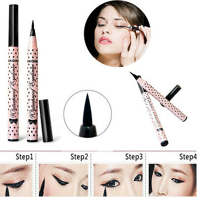 NEW Black Eyeliner Waterproof Liquid Eye Pencil Pen Make Up Beauty Comestics