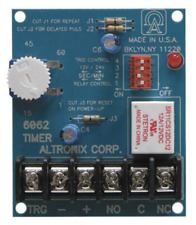 SPDT contacts rated @ 8 amp//115VAC to 60 min 12VDC or 24VDC operation adjustable timing range 1 sec One seco Altronix 6062 Multi-Function Timer