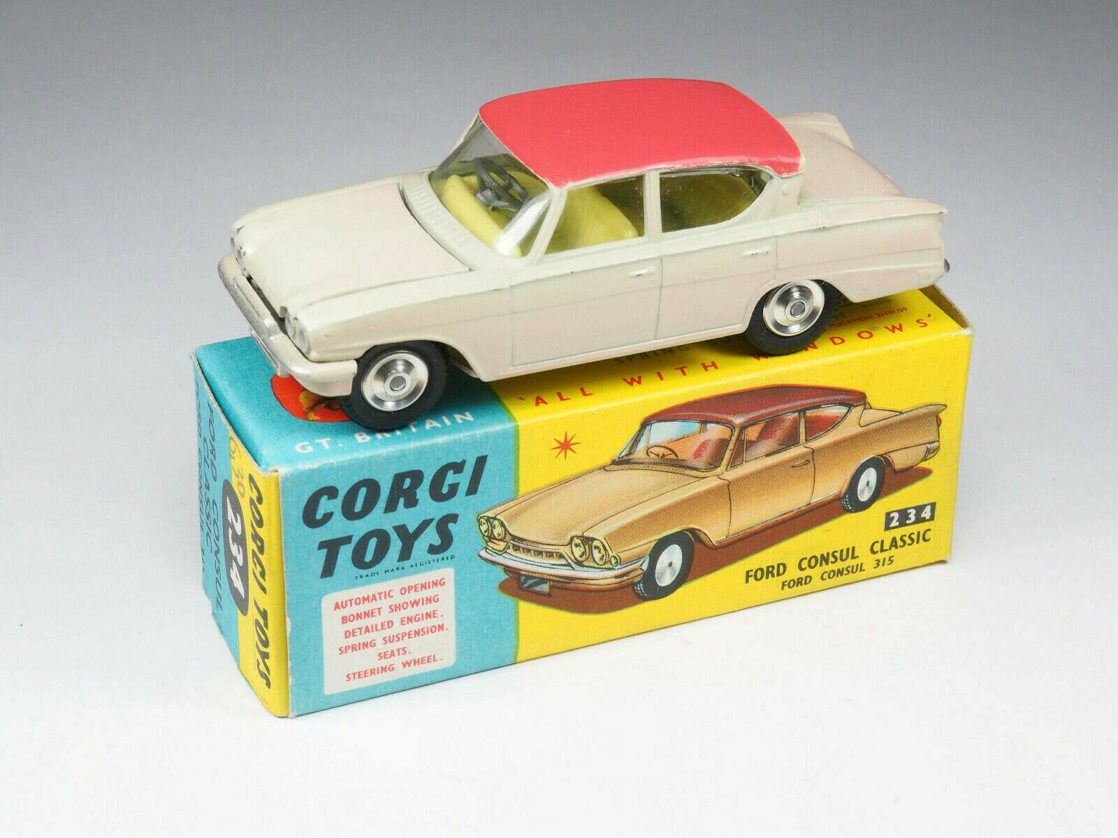 precios bajos Corgi Juguetes - 234 - Ford Consul Classic Classic Classic variation Beige rosé - 1 43e - England  Envio gratis en todas las ordenes