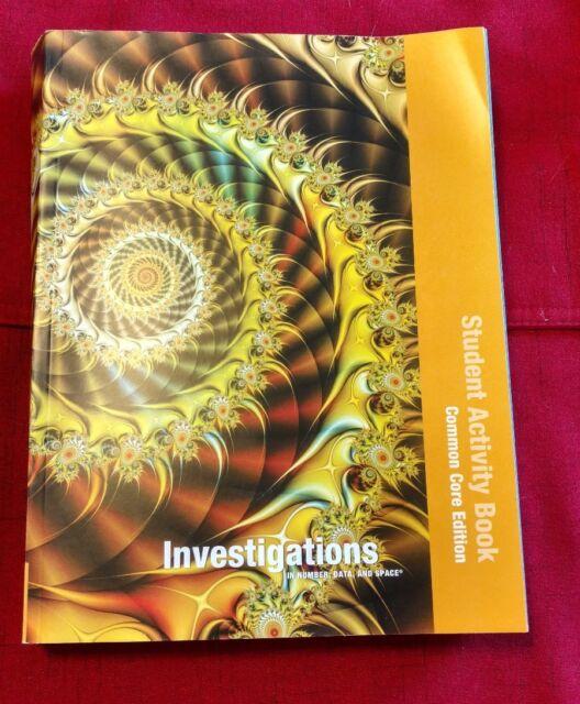 """Investigations 2012 Common Core STUDENT ACTIVITY Book  GRADE 4 """"Near New"""""""