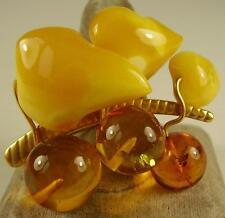 Antike Art deco Naturbernstein Brosche Amber 10g natural Baltic Butterscotch