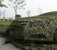 Camouflage Camo Net Netting Cover Blinds Jungle Military Tarp Fu 4m5m