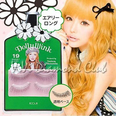 KOJI Dolly Wink False Eyelashes No.19 Sweet Lady (2 pairs/ box) NEW Version