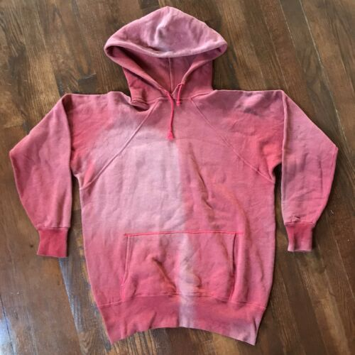 VTG 50s 60s Red Sun Bleached Faded Distressed Hood