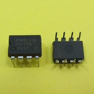 Details about ATMEL 416 AT24C256 2-Wire Serial EEPROM DIP8 PU27 24C256 I2C  IIC Memory Flash