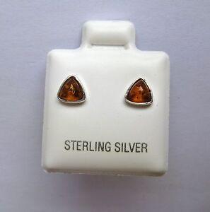 ARGENT-STERLING-cognac-ambre-triangulaire-clous