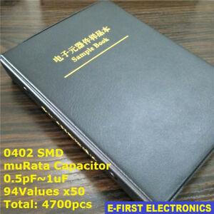 Useful 0402 SMD Chip Ceramic Capacitor Assorted Kit 50V 72 values x 50pcs