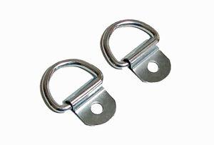 "2 Pack Steel D-Ring 1/8"" Diameter loop for Truck Trailer ATV 2150"