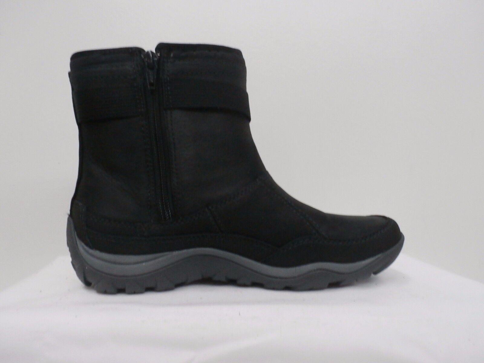 Merrell Waterproof Leather Ankle Boots - Murren Strap black Size 6