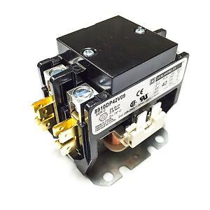 Details about 8910DP42V09 Square D Contactor, 40FLA, 50 A Res, 208-240V  60Hz Coil, 2 Pole
