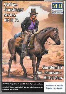 Master Box Outlaw Gunslinger Series, Hired Gun on Horse in 1/35 204 ST B3