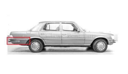 Mercedes W116 Rear Bumper Rubbers 280S 280SE 280SEL 350SE 450SEL