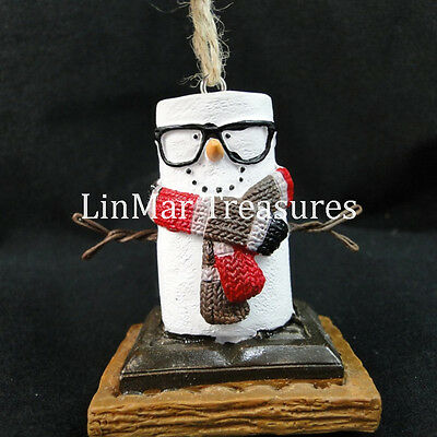 S'mores Ornament Wearing Striped Scarf Midwest CBK