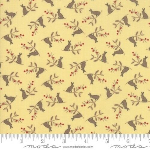 Moda Cottontail Cottage 2922 12 Yellow Rabbit Toss COTTON FABRIC BTY