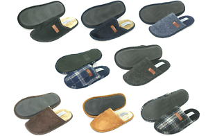 MENS SLIPPERS Quality Warm Many Styles Colours Black Navy Brown Checked