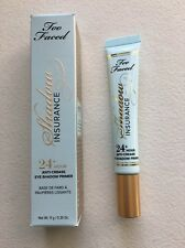 Too Faced Shadow Insurance Anti-Crease Eyeshadow Primer 0.35 oz. FULL Sz NIB