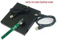 SATA TO USB 2.0 External Slim Laptop CD/DVD Drive Enclosure Case Caseing