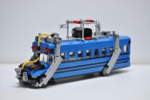 LEGO Fortnite Battle Bus Custom MOC Blue
