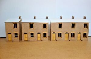 Terraced-House-Kit-Laser-Cut-Scratch-Aid-Layout-Kit-OO-Gauge-4mm-Model-Railway