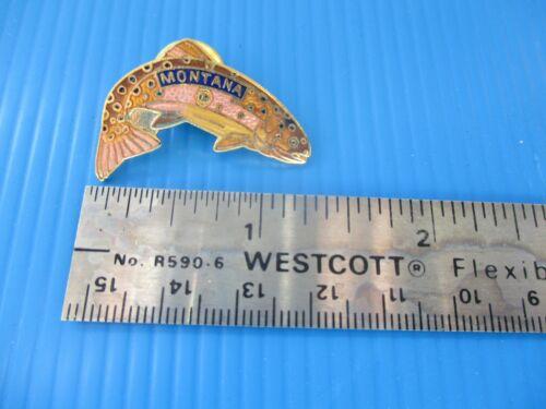 Montana Trout Fish Hat Pin Coat Pin