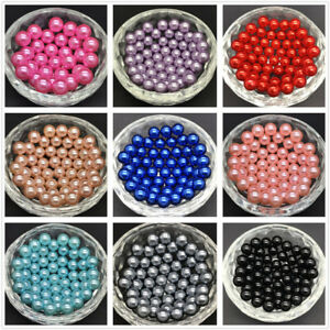 New-DIY-4mm-6mm-8mm-10mm-No-Hole-Round-Pearl-Loose-Acrylic-Beads-Jewelry-Making