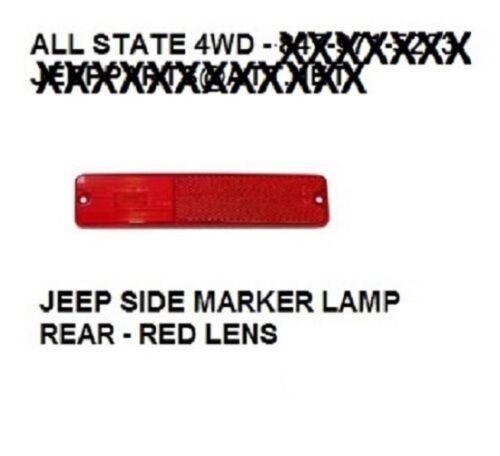 72-86 JEEP CJ CJ-5 CJ-7 CJ-8 CHEROKEE SIDE MARKER LIGHT HOUSING LENS REAR RED