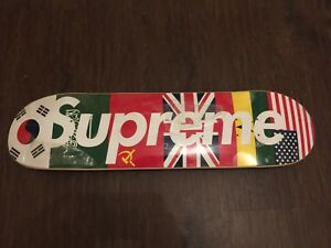 Supreme Skateboard Deck Flags Country Flags International Box Logo