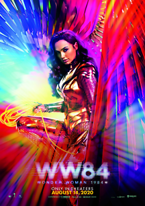 Wonder Woman 1984 American Superhero Movie Print Poster Wall Art Picture A5 - A1
