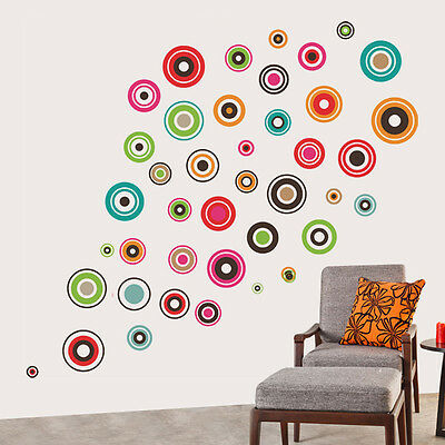 6918 | Wall Stickers Colorful Polka Motifs