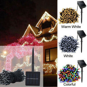 12M-100LED-Solar-Power-Fairy-Light-String-Lamp-Party-Xmas-Decor-Garden-Outdoor-Z