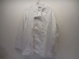 d6ab94350 Image is loading Cintas-Style-61417-White-Chef-Coat-Jacket-Uniform-