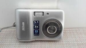 Nikon Coolpix L3 5.1MP Digital Camera  3x Optical Zoom/256Mb Card  Pre-owned