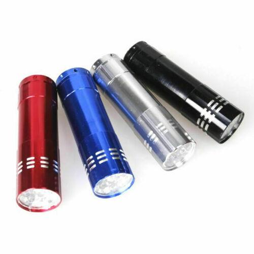 9 LED Aluminum Flashlight Torch Light Lamp A9L8