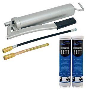 Fettpresse-Handfettpresse-Handhebelpresse-3-tlg-Set-2-Stueck-Kartuschen-Fett