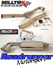 Milltek audi TT MK2 2.0 TFSI 2WD Turbo Trasera de Escape Inc euro Twin 90mm Jet Cola