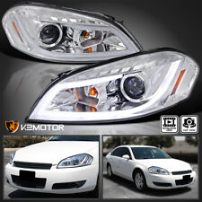 For 2006 2013 Chevy Impala Clear Led Strip Projector Headlights Lamps Lr 06 13 Fits 2006 Impala