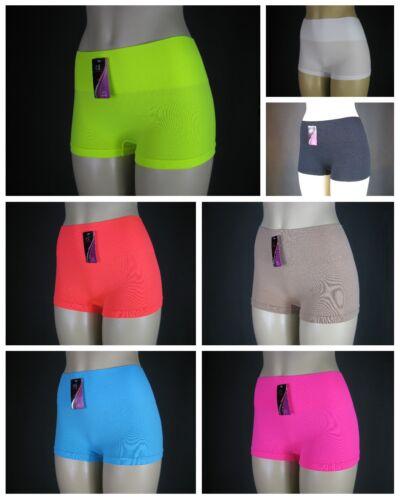 Ladies Secure Spandex Yoga Pilates Beach Gym Fitness Running Hi-Waist Boy Shorts