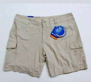 New-Women-039-s-Columbia-Omni-shade-Cloverdale-khaki-beige-cargo-shorts-hiking
