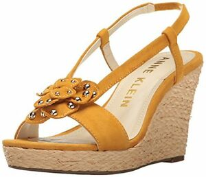 eb39d7a4e4b Image is loading Anne-Klein-Womens-Marigold-Suede-Espadrille-Wedge-Sandal-