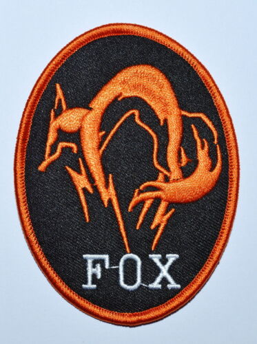 METAL GEAR SOLID FOX HOUND LOGO BADGE PS4 COSPLAY OPS HI VIZ IRON ON PATCH