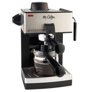 Mr-Coffee-ECM160-4-Cups-Steam-Espresso-amp-Cappuccino-Maker-Black-Silver