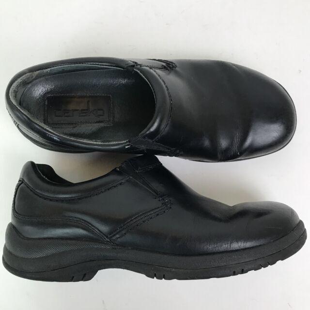 Dansko Mens Wynn Black Leather Slip on