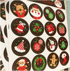 160pcs-10-sheets-Christmas-Envelope-Seal-Sticker-Gift-Label-Stickers-Decoration