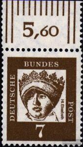 BRD-BR-Deutschland-348y-Oberrandstueck-gestempelt-1961-Bedeutende-Deutsche