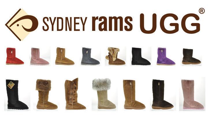 BNWT Sydney Rams Damen Herren Ugg Kurze Stiefel Aus Aus Echtem Leder