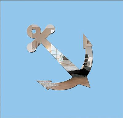 Acrylic /'Anchor/' Nautical Mirror Range of Sizes