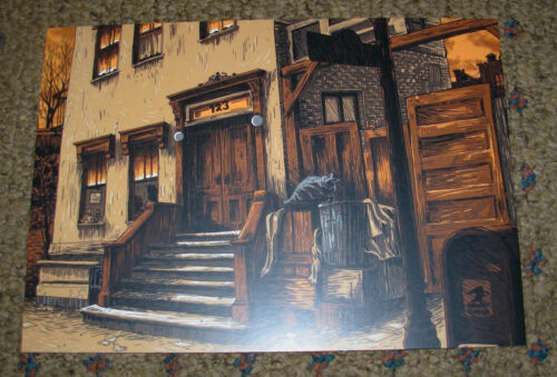 TIM DOYLE Art 5X7 Postcard SESAME STREET Nest Of Doors OSCAR like poster print