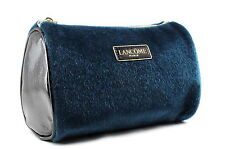 LANCOME Paris Midnight Blue Shimmer Faux Fur Makeup Bag