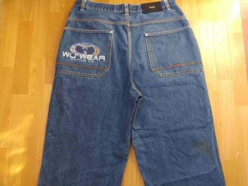 WU WEAR jeans, vintage hip hop baggy loose jeans 9