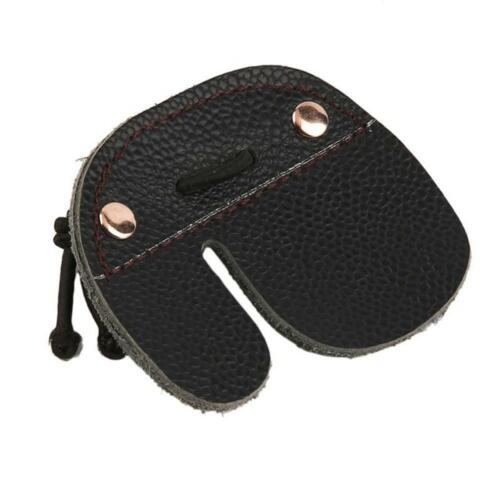 Cow Leather Archery Finger Tab Hand Guard Protect Pad Leather Hunting Shooting